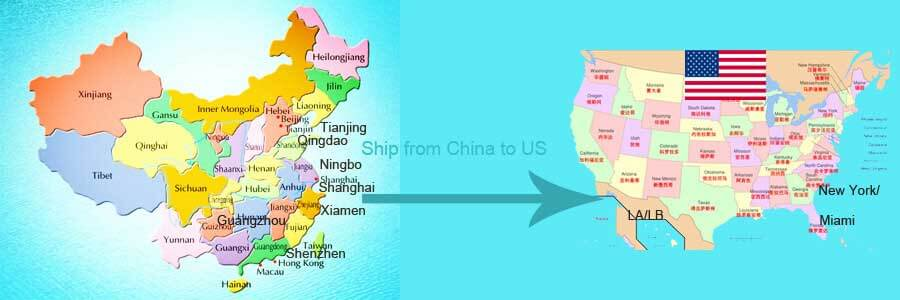 Ship From China To Us American Sea Air Dhl Fedex Ups Freight